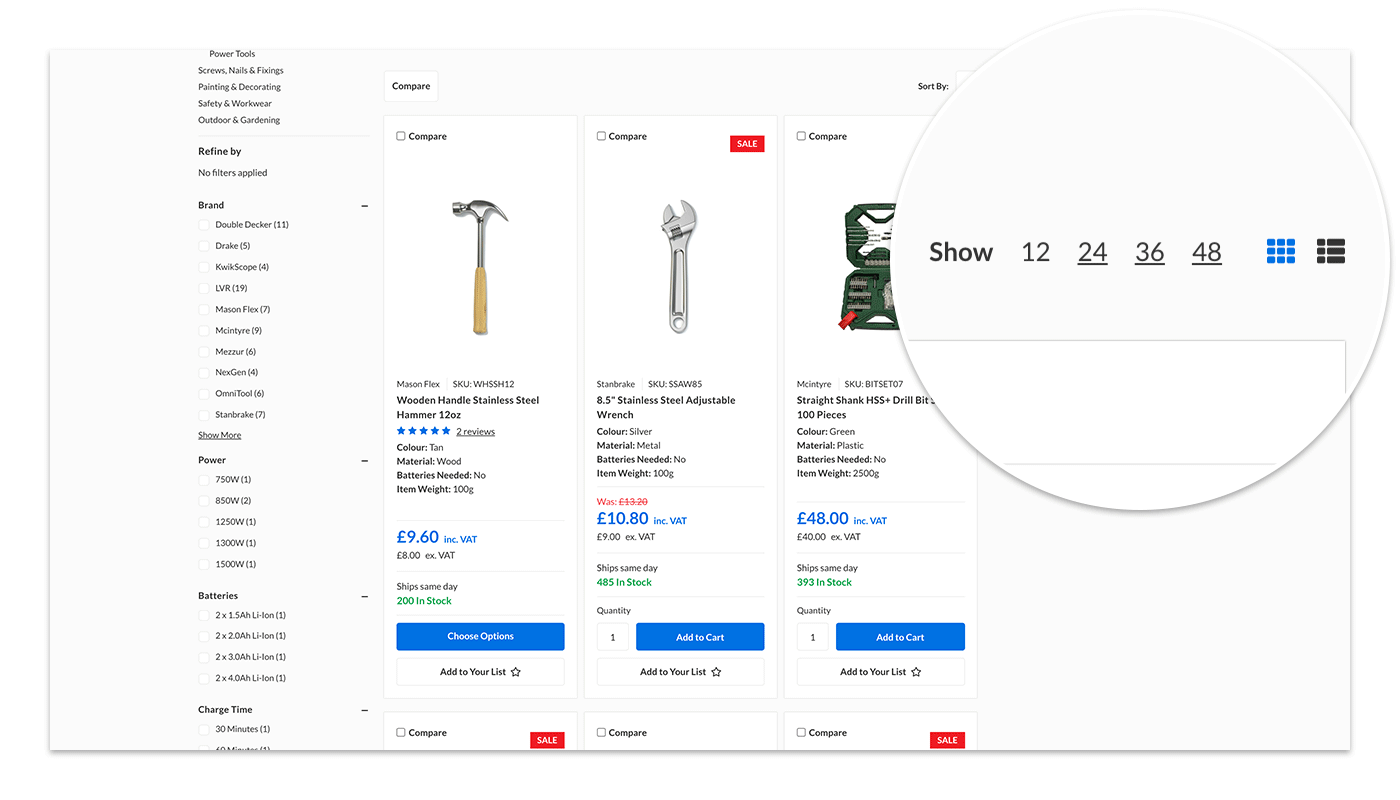 Flexible Display Options