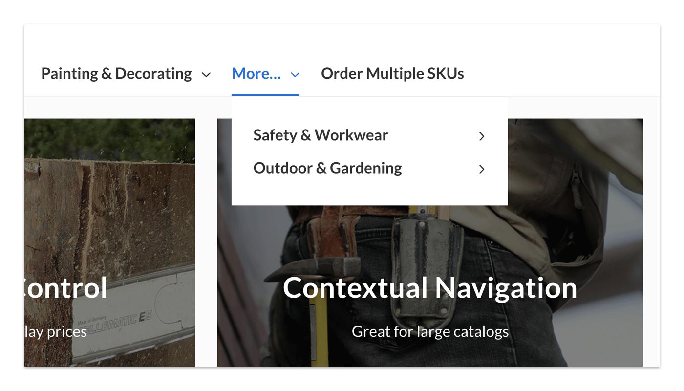 Limit navigation items for large catalogs